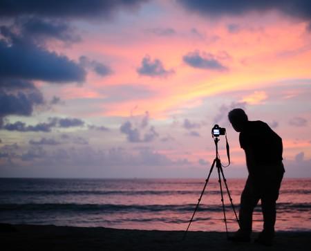 camra: Thailand Phang Nga - taking picture at sunset