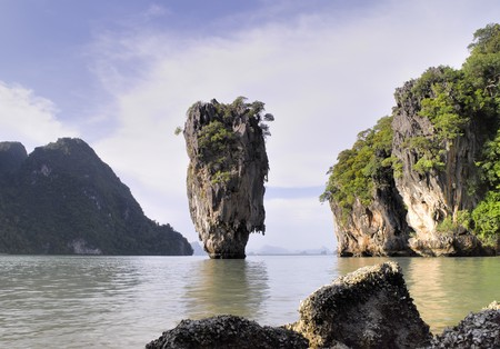 james bond's island: Thailand  Phang Nga - James Bond island Stock Photo