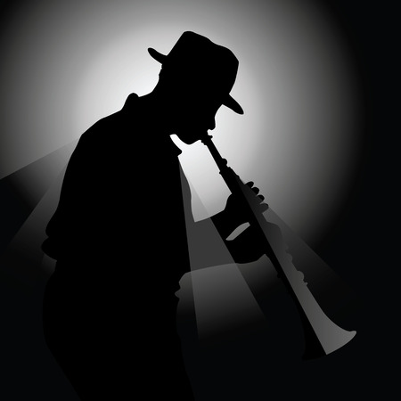 saxophonist: illustration of a saxophonist