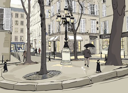 Furstemberg square in paris Stock Vector - 8760392
