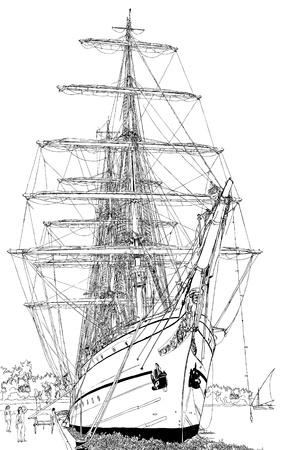 un bote de vela
