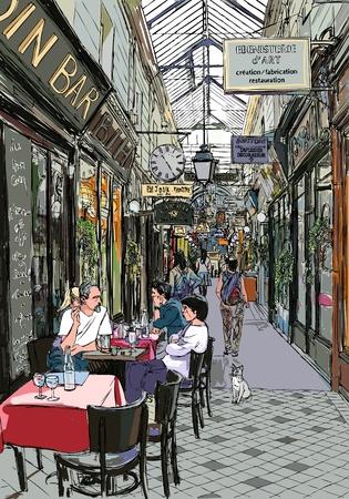 paris street: an old passage in Paris