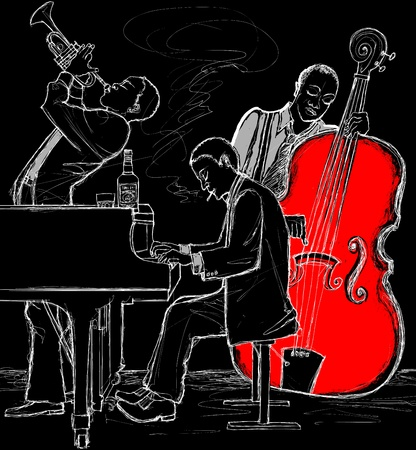 soul: Vector illustration of a Jazz band