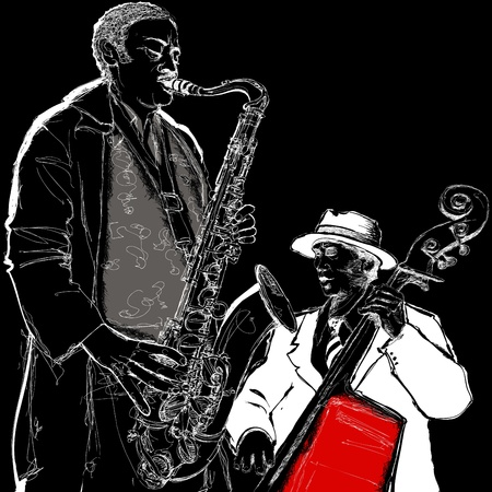 soul music: illustration of a jazz band
