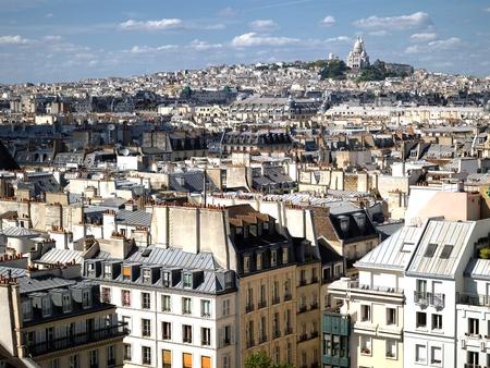 montmartre: France - Paris - skyline de Beaubourg centre culturel