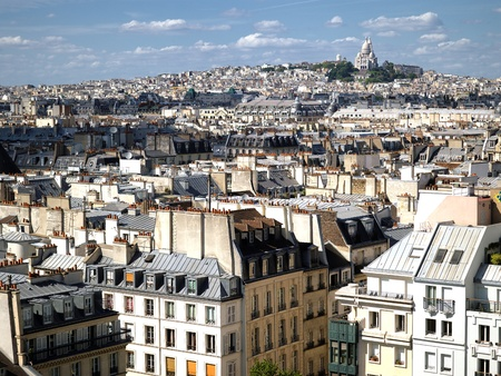 montmartre: France - Paris - skyline from Beaubourg cultural center Stock Photo