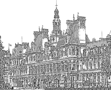 France - Town Hall of Paris