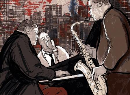 Illustration einer Jazz-Band