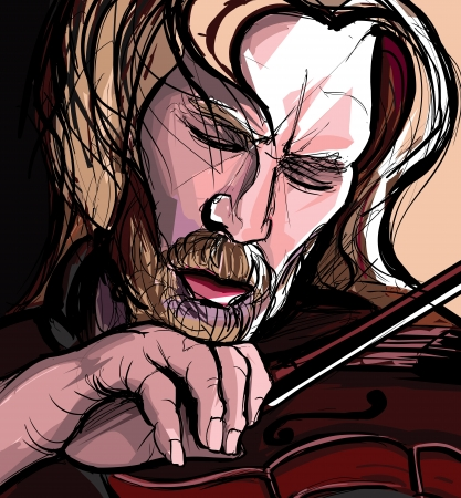 violin player: illustration of a violin player