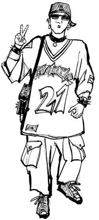 illustration of a punk