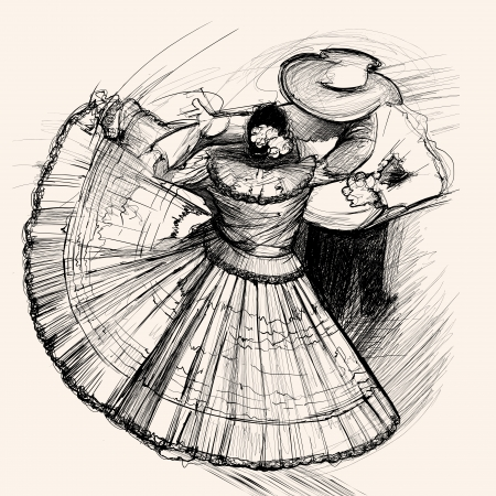 illustration of a latino dance  Vector