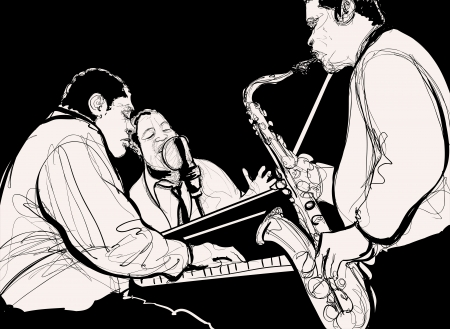 jazz band: illustration of a Jazz band