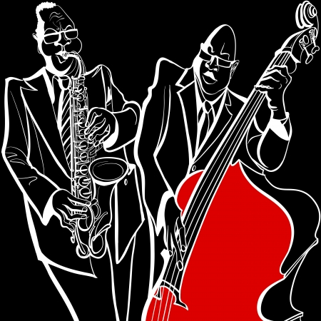 the blues:  illustration of a Jazz band