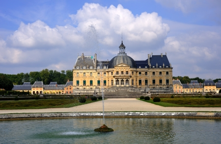 Vaux-le-Vicomte, France - September 9, 2008 - The Chateau de Vaux-le-Vicomte is a baroque French chateau located in Maincy, near Melun in the Seine-et-Marne department of France