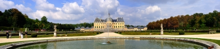 ile de france: Vaux-le-Vicomte, France - September 23 2008 - The Chateau de Vaux-le-Vicomte is a baroque French chateau located in Maincy, near Melun in the Seine-et-Marne department of France