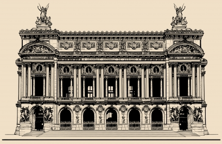 Vector illustration of Opera Garnier in Paris Illustration