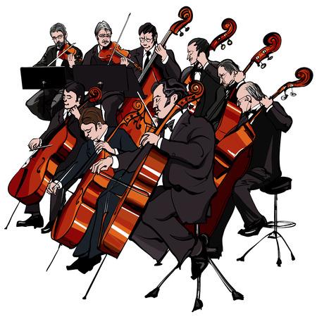orquesta clasica: Ilustraci�n vectorial de una orquesta cl�sica Vectores