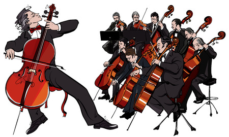 orchestra: Vector illustration of a classical orchestra Illustration