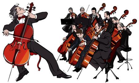 kammare: Vektor illustration av en klassisk orkester