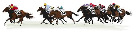 caballo: Las carreras de caballos competencia- ilustración vectorial