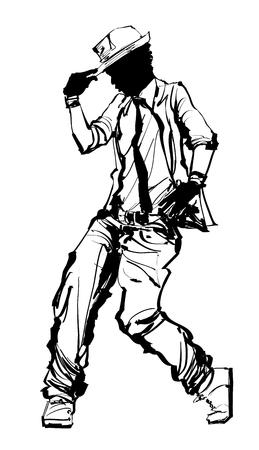 Hiphop danser - vectorillustratie