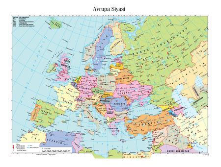 Mapa político de Europa Foto de archivo - 46486670