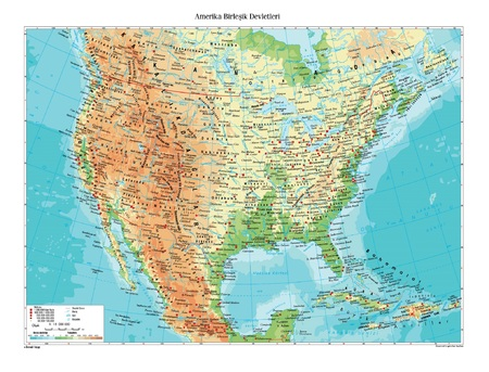 map of usa: Physical map of USA