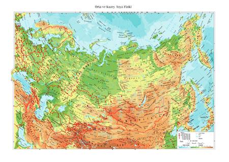High brief North Asian Topographic Map Illustration