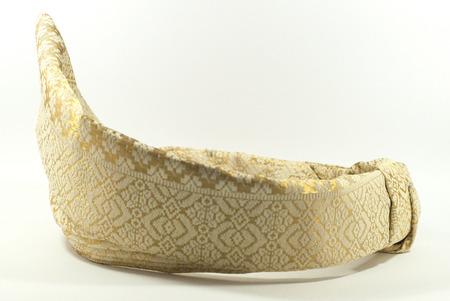headgear: Tengkolok  Tanjak a Malaysian Traditional Wedding Headgear Stock Photo