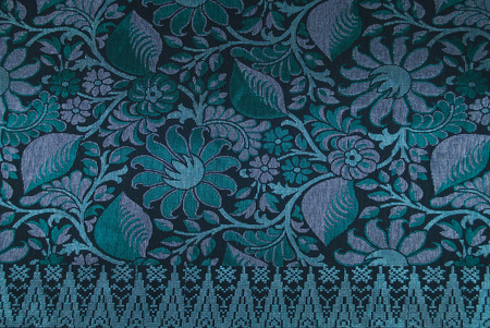 Malaysia Songket Woven Texture Fabric textile originally from Malaysia, Indonesia, Brunei, India Imagens