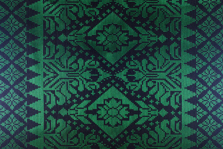 Malaysia Songket Woven Texture Fabric textile originally from Malaysia, Indonesia, Brunei, India Stock Photo