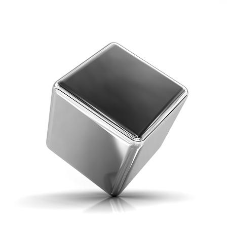 cubo: Una idea de la simplicidad y la inestabilidad Foto de archivo