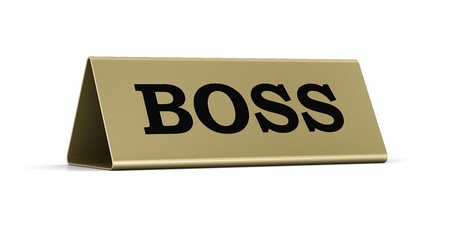 Gold identification plate of the boss position photo