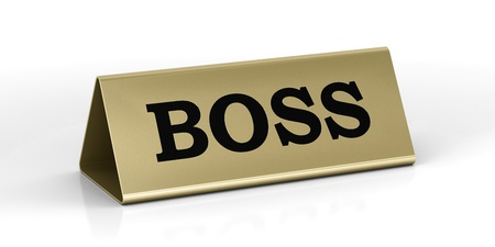 name plate: Boss identification plate