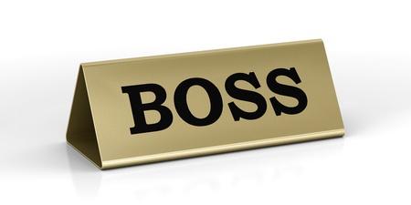 Boss identification plate Stock Photo - 13074374