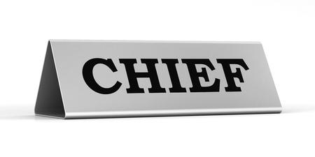 Chief identification plate photo