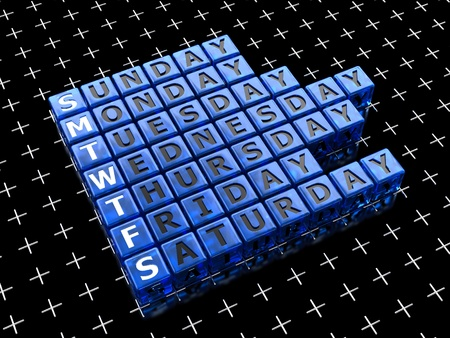 Seven days of the week Stock Photo - 13144615
