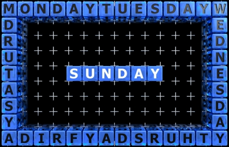 Days of the week  Sunday photo