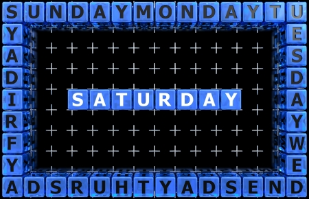Days of the week  Saturday photo