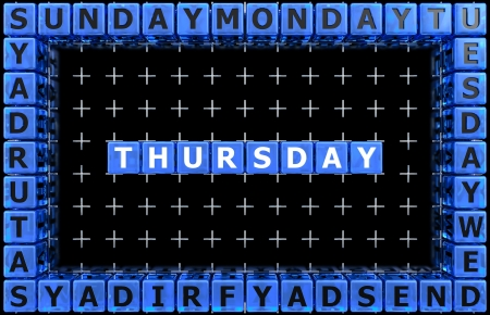 Days of the week  Thursday photo