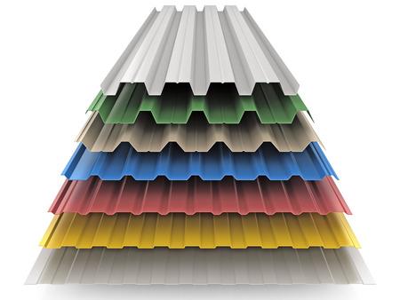 dach: Stahl farbigen goffered Platten für Dachdekoration Lizenzfreie Bilder