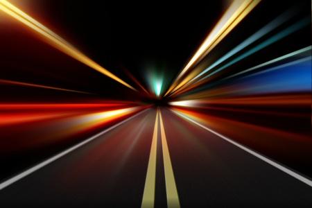 abstraktní noční rychlostní zrychlení pohybu