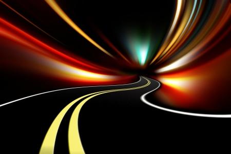 abstract night road Stock Photo