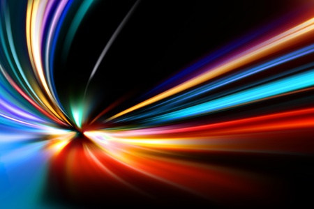 road tunnel: abstract night acceleration speed motion
