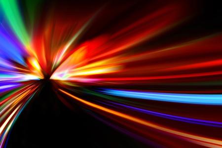 speed line: autostrada astratta di notte