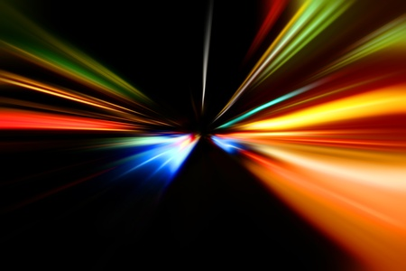 abstract night acceleration of the motion on the road Stock Photo - 9120269