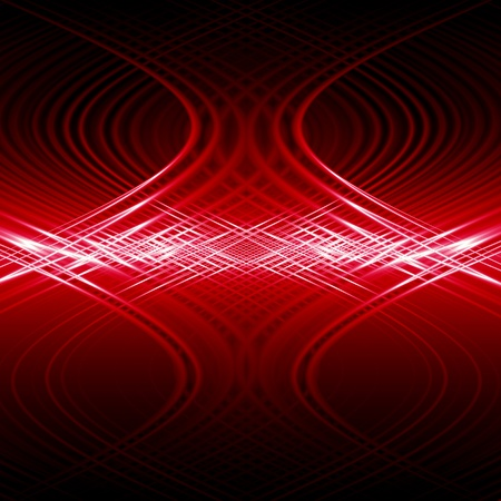 abstract red wave energy  photo