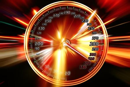 speed on the speedometer Stock Photo - 9128013