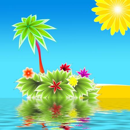 abstract paradise island Stock Photo - 9120297