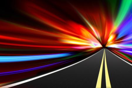 infraestructura: viajes de carretera de noche abstracto Foto de archivo